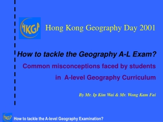 Use of Concept Map in Teaching S4-5  Geography Curriculum