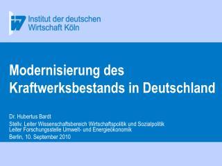 Modernisierung des Kraftwerksbestands in Deutschland