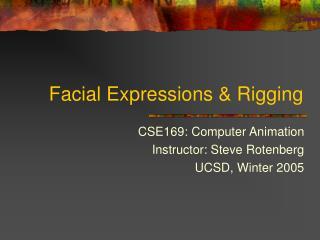 Facial Expressions  Rigging