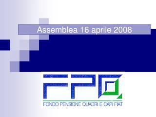Assemblea 16 aprile 2008