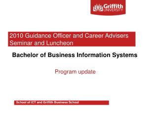 Bachelor of Business Information Systems Program update