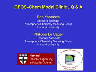 GEOS–Chem Support Staff