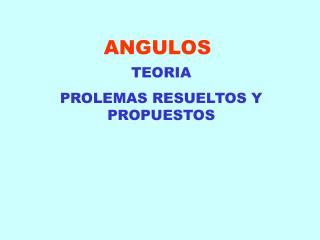 ANGULOS