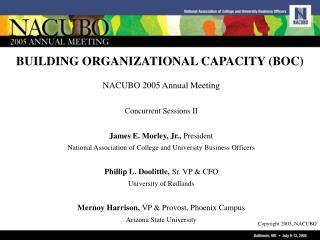BUILDING ORGANIZATIONAL CAPACITY (BOC)