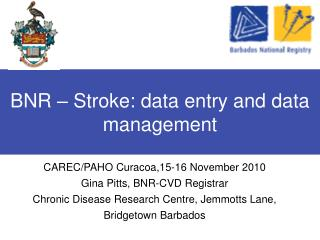 BNR – Stroke: data entry and data management