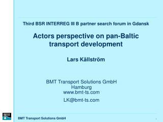 BMT Transport Solutions GmbH Hamburg bmt-ts LK@bmt-ts