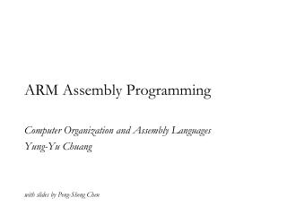 ARM Assembly Programming