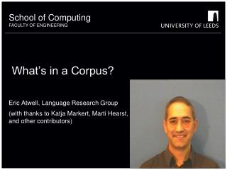 What's in a Corpus?
