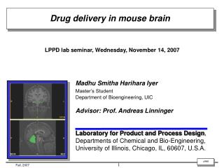 LPPD lab seminar, Wednesday, November 14, 2007