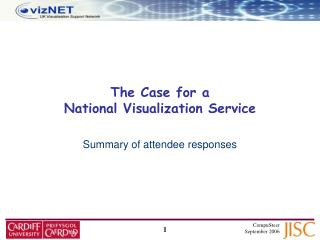 The Case for a  National Visualization Service