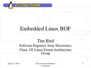 Embedded Linux BOF