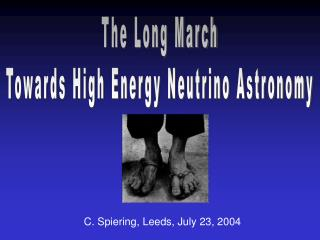 The Long March Towards High Energy Neutrino Astronomy