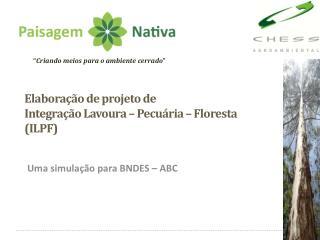Elaboração de projeto de  Integração Lavoura – Pecuária – Floresta (ILPF)