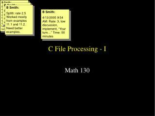 C File Processing - I