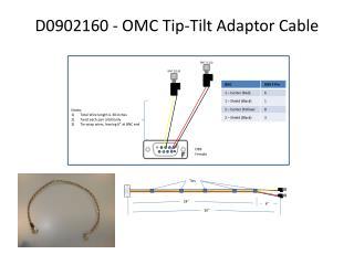 D0902160 - OMC Tip-Tilt Adaptor Cable