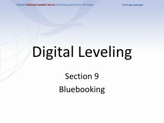 Digital Leveling