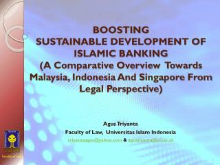 Agus Triyanta Faculty of Law,   Universitas  Islam Indonesia