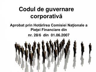Codul de guvernare corporativă