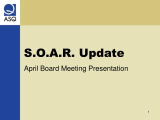 S.O.A.R. Update