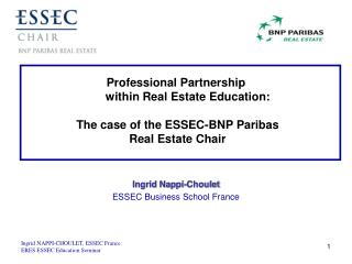 Ingrid Nappi-Choulet ESSEC Business School France