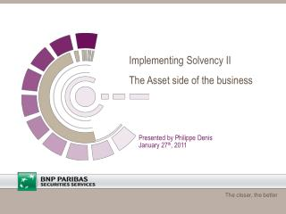 Implementing Solvency II The Asset side of the business