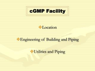 Location Engineering of Building and Piping Utilities and Piping