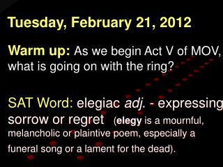 Tuesday, February 21, 2012