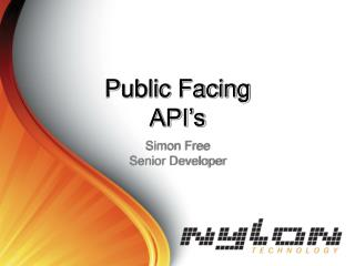 Public Facing API s