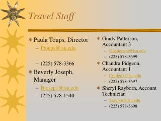 Travel Staff