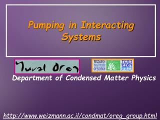 Pumping in Interacting Systems
