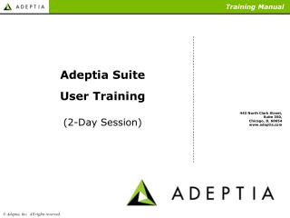 Adeptia Suite User Training (2-Day Session)
