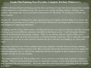 Inside Out Painting Now Provides Complete Kitchen Makeover's