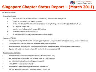 Singapore Chapter Status Report – (March 2011) ‏