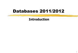 Databases 2011/2012