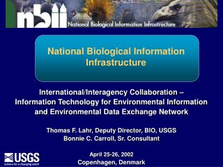 National Biological Information Infrastructure