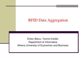 RFID Data Aggregation