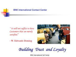 BNK International Contact Center