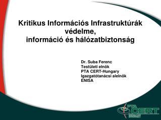 Kritikus Információs Infrastruktúrák védelme, információ és hálózatbiztonság