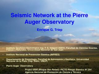 Seismic Network at the Pierre Auger Observatory