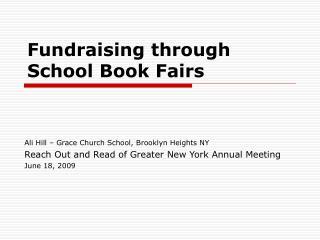 Fundraising through School Book Fairs