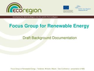 Focus Group for Renewable Energy
