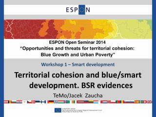 "ESPON Open Seminar 2014  ""Opportunities and threats for territorial cohesion:"