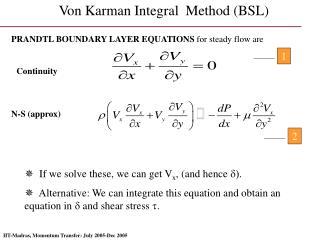 Von Karman Integral  Method (BSL)