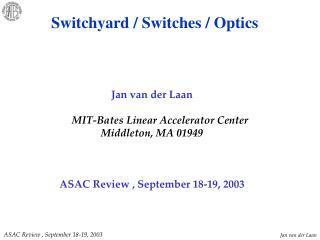 Jan van der Laan MIT-Bates Linear Accelerator Center Middleton, MA 01949