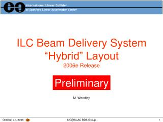 ILC Beam Delivery System �Hybrid� Layout 2006e Release