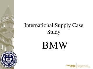 International Supply Case Study