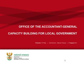 OFFICE OF THE ACCOUNTANT-GENERAL  CAPACITY BUILDING FOR LOCAL GOVERNMENT