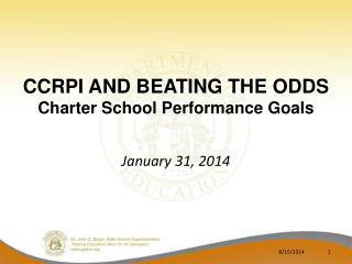 CCRPI and Beating the Odds Charter School Performance Goals