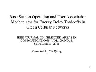 IEEE JOURNAL ON SELECTED AREAS IN COMMUNICATIONS, VOL. 29, NO. 8, SEPTEMBER 2011