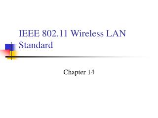 Ppt wireless lan simulation ieee mac protocol for Ieee 802 11 architecture